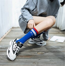 93c612c21 Knee length socKs online shopping - Girls Champion Letter Printed Knee High  Socks Cotton Teenager Student