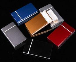 Dünne Mode Rohre Kreative Persönlichkeit Zigarettenetui Schlanke Metallschieber Zigarettenschachtel Aluminium Geschenkbox Zigarettenspitze GB282 im Angebot