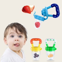 Silicone Baby Food Feeder NZ - Baby Fresh food Feeder Pacifier Kids Nipple Feeding Safe Fruit Milk Feeder Infant Fruit Teething Toy Silicone Pouches For Toddlers & Kids