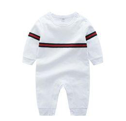 Kids Long Jumpsuit Australia - Kids Cotton baby Cloth Solid Color Baby Romper Spring Autumn Long Sleeve Baby Boy Girl Romper Infant Warm Jumpsuit 0-24cm