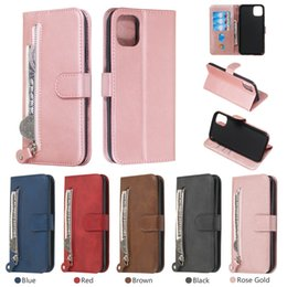 10 x max iphone Australia - Zipper Wallet Flip Leather Card Slot Stand Case For iPhone 11 Pro Max XS XR X 8 7 6 Samsung S9 Plus S10 S10e Note 9 10 10+ A10 A30 A50 A70