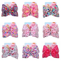 Valentine hair online shopping - New Valentine Day Gift Barrette Jojo Siwa Hair Bows Accessories Candy Color Bowknot Hairpin Women Jewelry With Card inch jf Ww
