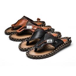 Men Patent Leather Sandal Australia - Summer designer sandals mens shoes fashion luxury men slippers wide flat genuine leather flip flops slides Sandals with box