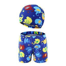 $enCountryForm.capitalKeyWord Australia - 3-11 Years Boy Swim Trunk Children Cartoon Swimsuit Summer Swimwear Shorts Kids Swimming Trunks with Swimming Cap