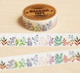 Wholesale 1 Pc cm m fashion Plant Washi Tape Diy Decoration Scrapbooking Planner Tapes Label Sticker Stationery