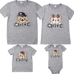 mother daughter matching top Canada - 2019 Hot SELL Mother Daughter Father Son Matching Casual Tops Cute Cartoon Bear Printed Family Clothes