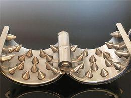 Testicle Scrotum Toys Australia - Adult Games,Best selling Stainless Steel 4 RowsTeeth Penis Rings,Cock Ring Pendant Scrotum Testicle Bondage,Chastity Belt,Sex Toy