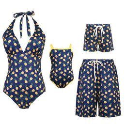 $enCountryForm.capitalKeyWord UK - Family Matching Swimwear Family Look Mother Daughter Father Son Kid Swimsuit Mom And Daughter Mommy And Me Bathing Suit Clothes
