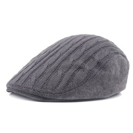 Wool beret hat middle aged and old people hat autumn winter front hat wool cap  duck tongue men s and women s winter 02125450f4a0