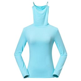 t shirt anti uv NZ - Golf Ice Cotton Long Sleeve T-Shirt Sun Coat Anti-UV Women Base Shirt Sports Shirts Pullover Clothes For Running Hiking
