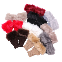 Dew Finger Gloves Knitting Wool Rabbit Hair Keep Warm Half Finger Glove Winter Pure Color Woman Fingerless Gloves 3 28ryE1 on Sale