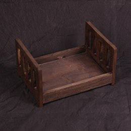 Photos babies online shopping - Baby Wooden Bed Gift Photo Prop Posing Portable Durable Photography Shotting