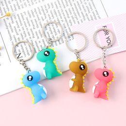 Silicone Toys For Women Australia - 3D Cartoon Fashion Cute Cartoon Little Dinosaur Keychain Silicone Key chain For Women Bag Charm Key Ring Pendant Gifts Jewelry