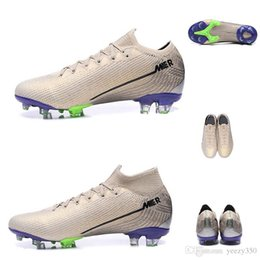 vapor football Canada - Mercurial Superfly 7 VII Vapors 13 XIII Elite Desert Sand Psychic Purple FG Soccer Shoes Terra Pack Youth Kids Football Boots Junior Cleats