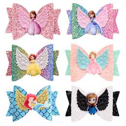 $enCountryForm.capitalKeyWord Australia - New arrival Unicorn Wing Hair Accessories for Girls Children Princess Glitter Hair Bows Clips Handmade Hairpins Cute Kids Headdress 15pcs