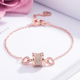 Wholesale Small waist full diamond super flash crystal bracelet Electroplated K rose gold charm bracelet Korean version of simple jewelry