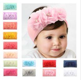 Flower Bows For Baby Girls Australia - hair bows for kids new designer cloth headbands baby girls beautiful 14 colors flower headband children hair accessories