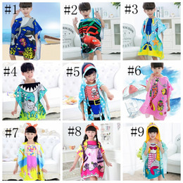 Kids Bathrobes Mermaid Printed Baby Hooded Robes Kid Beach Towel Cartoon  Animal Nightgown 9 Designs Free Shipping DHW2113 5253a8dec