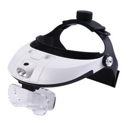 $enCountryForm.capitalKeyWord NZ - Headmounted 2LED Jeweler Watch Repair Magnifier Magnifying Glass Loupe 5 Lens for Nail Art Tool