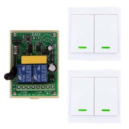 $enCountryForm.capitalKeyWord Australia - AC 110V -220V 2 CH 2CH RF Wireless Remote Control LED Light Switch Receiver +86 Wall Panel Transmitter,315 433 MHz Toggle
