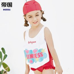 child float vest Australia - Girls Buoyant Swimming Suits Children One-piece Swimwear Baby Life Saving Conjoined Vest Floating Swimsuit Rash Guard