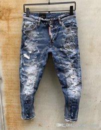 $enCountryForm.capitalKeyWord NZ - 2019 Mens Badge Rips Stretch Black Jeans Fashion Designer Slim Fit Washed Motocycle Denim Pants Panelled Hip HOP Trousers 10200