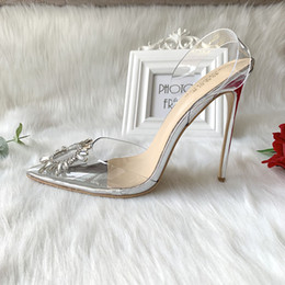 designer bridal shoes UK - Hot sale Free shipping Designer fashion women sexy stilettos silver patent leather bow crystal slingback high heel pump bridal wedding shoes