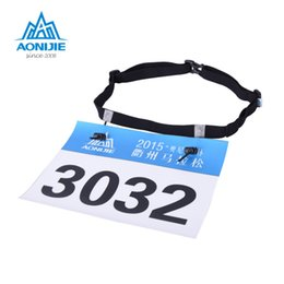 Motor belts online shopping - Aonijie Unisex Triathlon Marathon Race Number Belt With Gel Holder Running Belt Cloth Motor Running Outdoor sports bag