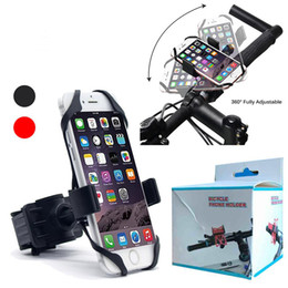 Wholesale Universal Bike Bicycle Motorcycle With Silicone Support Band Handlebar Mount Holder Phone Holder For Iphone XS MAX Samsung A8 A9