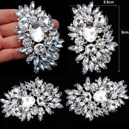 Huge rHinestone broocHes online shopping - 3 Inch cm Large Top Quality Flower Brooch New Arrival Silver Tone Luxury Huge Crystal Rhinestone Wedding Bouquet Brooches