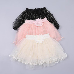 Ballet Tutu Dancewear Australia - Baby Girl Clothes Manual Tutu Skirts Pettiskirt Fancy Skirts Kids Dancewear Princess Skirt Mini Dress Ballet Pleated Skirts Costume BY0930