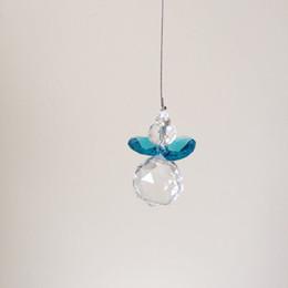 $enCountryForm.capitalKeyWord UK - 10PCS Hanging Ckakra Suncatcher Ball Crystal Octagon Beads Prisms Chandelier Lamp Lighting Pendant Wedding Decoration Gift