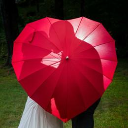 fbaef562732c0 Hearts Umbrella Australia - Red Heart Shaped Umbrella Love Parasol for  Wedding Party Valentine Engagement Photo