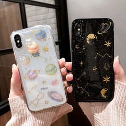 Green 3d case online shopping - Beautiful Sparkle D Starry TPU Phone Covers Star Clear and Black Silicone Phone Case for iPhone PLUS XR X MAX