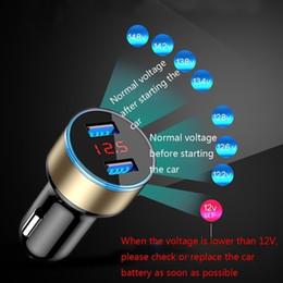 $enCountryForm.capitalKeyWord Australia - Europe and America 3.1A Dual USB Car Charger 2 Port LCD Display 12-24V Cigarette Socket Lighter For You