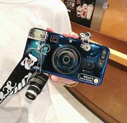 $enCountryForm.capitalKeyWord Australia - Stylish Cell Phone Case Fashion Camera Design with Lanyard Girl Phone Cover Shell for Apple iPhone X XS XR MAX 8 7 6 Plus DHL