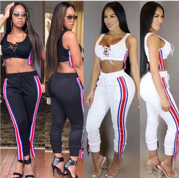 ebe6a56bae8 women designer tracksuit tube top+legging outfits bra+pants two piece set  skinny strap vest+tights sport suit pullover pants hot