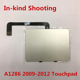 Wholesale NEW Original A1286 Touchpad with flex for Macbook pro Unibody inch trackpad with cable year