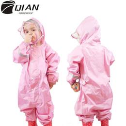 $enCountryForm.capitalKeyWord Australia - Qian 2-9 Years Old Fashionable Waterproof Jumpsuit Raincoat Hooded Cartoon Kids One-piece Rain Coat Tour Children Rain Gear Suit T8190615