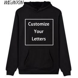 $enCountryForm.capitalKeyWord Australia - WEJNXIN Men Women Customize Hoodies Custom Logo Personalized Sweatshirt Your Own Design and Logo Unique Couple Love Clothes
