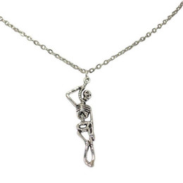 Skeleton Gifts Australia - Gothic Skull Skeleton Necklace Pendants Vintage Silver Dangle Statement Punk Witch Choker Necklaces Women Jewelry Surprise Halloween Gifts