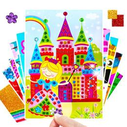 Alphabet Games Australia - Cartoon Animal Flower Pattern Multicolor Crystal Sticker Toy Kids Game New Fashion Crystal Sticker Toy