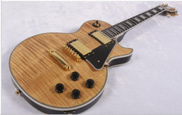 Luxury guitars online shopping - Luxury electric guitar AAA Carved figured maple top strings guitar