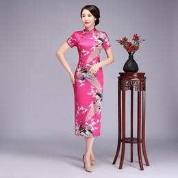 4a3744949 Plus Size 6XL Chinese Traditional cheong-sam Long Qipao Sexy Furcal Slim  Sociality Dress Half Sleeve Vintage Women Long Dress