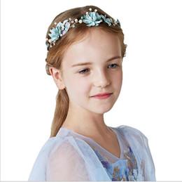 Bridesmaids Hair Australia - Flower Boy Headdress Bride Hair Ornament Bridesmaid Ring Children Pearl Ornaments