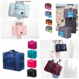 Foldable duFFel bag online shopping - 13styles Travel Bag Journey Women Folding Bag Unisex Men Luggage Travel Handbags Duffle Portable Foldable Baggage storage bag FFA1854