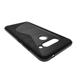 $enCountryForm.capitalKeyWord UK - 1.3mm NS Line Soft Silicone Brushed Carbon Fiber Texture Rugged Armor TPU Phone Cases Cover For Samsung Galaxy J4+ J4 Plus J6+ J6 Plus