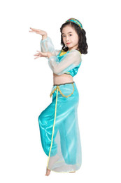 Wholesale arab women costume resale online - CHILDREN S DAY Children Section Halloween Green Arab Girls Costume Children Belly Dance Clothes India Dancing Dress