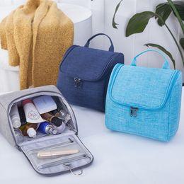Hanging Toiletry Bags For Women Australia - New Waterproof Hanging Makeup  Bag Oxford Travel Organizer Cosmetic b351790caec88