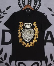 Wholesale mens sport tshirt long sleeve for sale – designer Dolce shirt mens designer tshirt Gabbana top quality tshirts DG Boutique cotton tees trend brand t shirt M XXXL outdoor sport t shirts tee